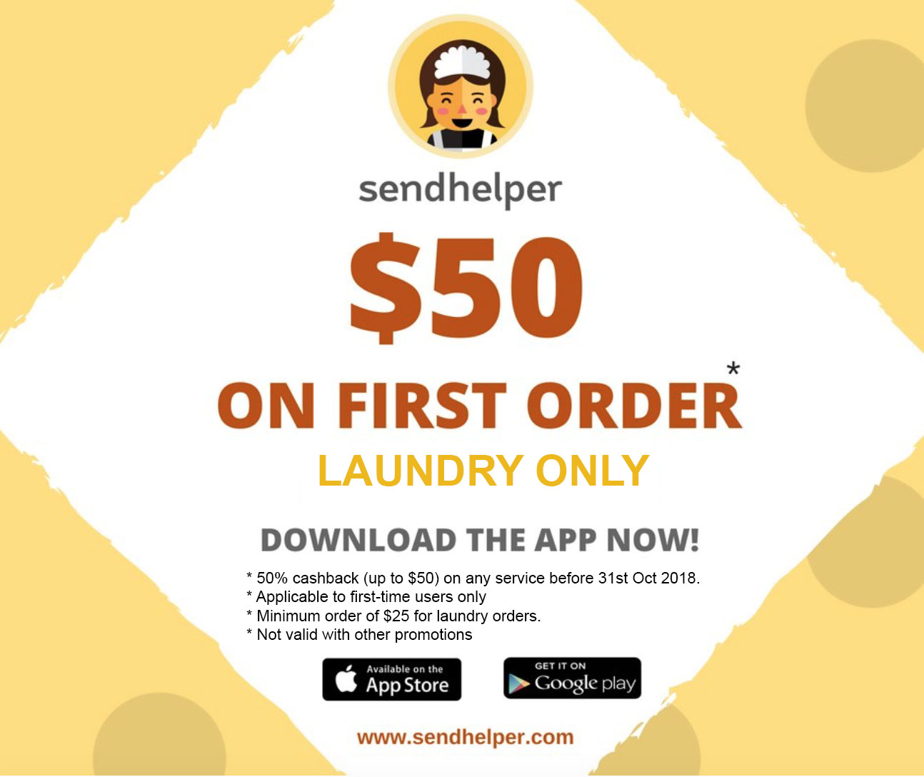 $50 off on first order (laundry only)