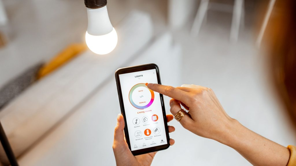 Controlling bedroom lights with smartphone
