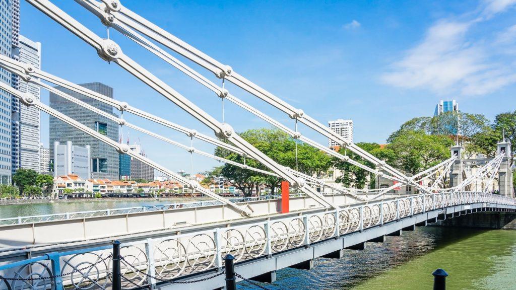 Cavenagh Bridge of Singapore