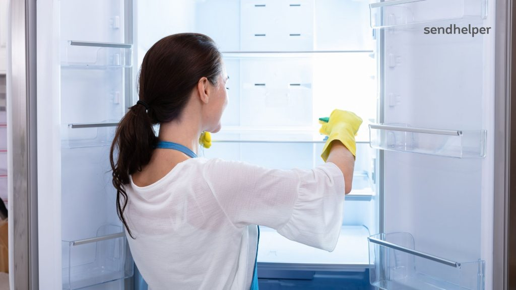 How to clean a refrigerator.
