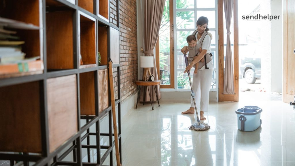 Baby-safe cleaning at home